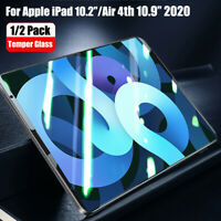 9H For Apple iPad Air 4th 10.9''/10.2'' 2020 Temper Glass Screen Film Protector