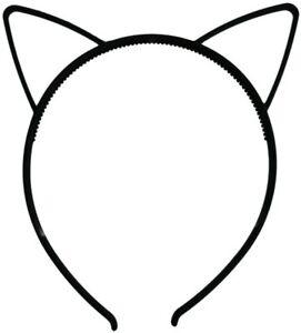 Black Cat Ears Small Plastic Alice Hair Band Headband Fancy Dress Accessories