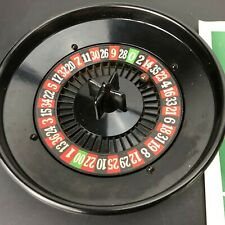 VTG JOSA Roulette Miniature Table Wheel w Poker Chips Ball Set Game Made USA