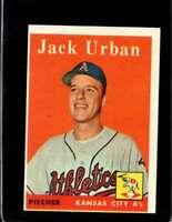 1958 TOPPS #367 JACK URBAN EXMT (RC) ATHLETICS  *XR20185