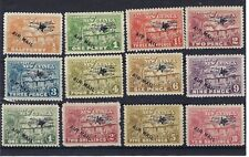 NEW GUINEA 1931 AIR HUT AIR MAIL SET TO 10/- SG137/48 VERY FINE USED SEE SCANS.