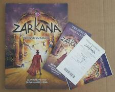 "CIRQUE DU SOLEIL ""ZARKANA"" TOUR BOOK + SPANISH HAND PROGRAM + USED TICKET"