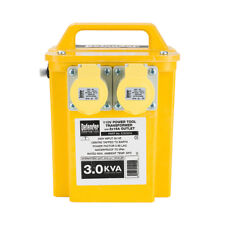110v Site Transformer 3 kVA 2 x 16A Outlet Fitted 13A Plug