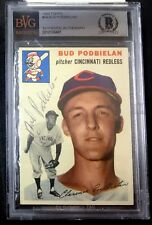 1954 TOPPS #69 BUD PODBIELAN RARE BAS BECKETT SIGNED CARD AUTOGRAPHED AUTO !