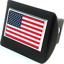 All Metal USA Flag Hitch Receiver Cover