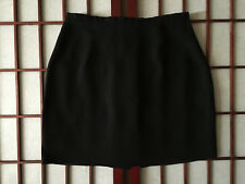 Country Road Black Straight Mini Skirt Womens Sze 6 Apparel Rayon Blend Garment