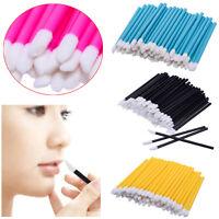 50pc Beauty Disposable Makeup Lip Brush Lipstick Gloss Wands Applicator Cosmetic