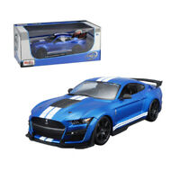 MAISTO 1/18 SCALE 2020 BLUE FORD SHELBY GT500 MUSTANG DIECAST CAR MODEL 31388BLU