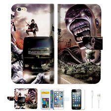 Iron Maiden Wallet  Case Cover For Apple iPhone 6 6S -- A014