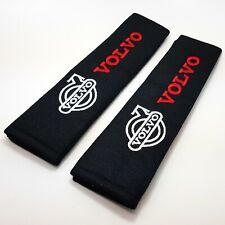 Volvo Car Logo Embroidered Seat Belt Shoulder Cushion Safety Pads Set of 2x