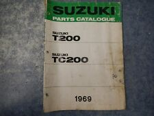 1969 SUZUKI T200 TC200 PARTS CATALOGUE MANUAL 2ND EDITION 67 68 69 T20