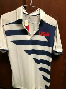 USA TOKYO 2020 MEN'S OLYMPIC GOLF POLO BY ADIDAS - EXTRA LARGE