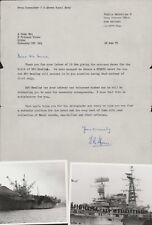 HMS HERMES Commander T T Abram 1978 Letter & Photos Crew Deck 1982  .  AK.69