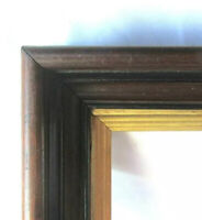 "Antique Fits 8"" x 10"" Eastlake Gold Gilt Walnut Picture Frame Country Victorian"