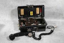 altes Telefon Feldtelefon Bakelit old vintage mit Kurbel Hörer Militär