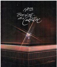 CADILLAC 1983 mercato USA 14pp BROCHURE DI VENDITA SeVille Eldorado Deville Fleetwood