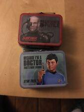 Star Trek TNG Teeny Tins Lunch Boxes Set Two Dr Bones McCoy Resistance Is Futile