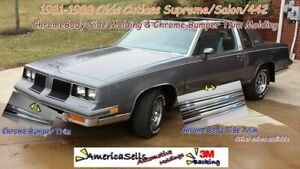 1981-1988 CUTLASS SUPREME SALON 442 CHROME BUMPER TRIM & BODY SIDE MOLDING