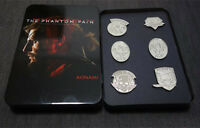 6 Pcs MGS 5 Metal Gear Solid V The Phantom Pain Metal Badges Set with Iron Box