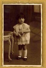 Carte Photo vintage card RPPC Enfant jouets mode fashion St. Remy Limoges ph06