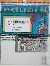 "Eduard 1/48 FE778 zoom a colori Etch per l'Kinetic Su-33 ""MARE"" FLANKER KIT"