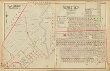 1906 CRANFORD TOWNSHIP, KENILWORTH UNION, NEW JERSEY UPSULA COLLEGE ATLAS MAP