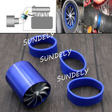 Universal Double Fan Air Intake Supercharger Turbo Turbine Fuel Gas Saver Fan