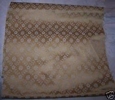 Scampolo Tessuto beige oro Cretonne Floreale Rasato lucido Stoffa Arredo cm58x86