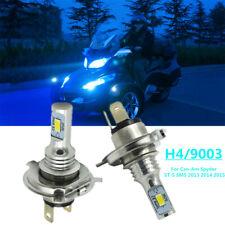 100W For Can-Am Spyder ST-S SM5 2013 2014 2015 LED Headlight H4 9003 8000K Bulbs