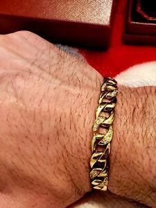 Men Women Cartier 18k Gold Diamond XL Bracelet $38,000 w/tax Extremely Rare
