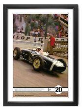 Stirling Moss SIGNED Lotus 18, Monaco 1961 'Greatest F1 Drive' 35x50cm litho COA