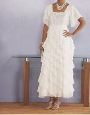 Special occasions Wedding Mother of Bride prom White Gown Ruffle dress plus 22W