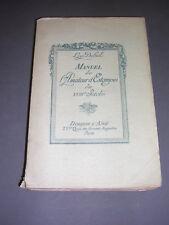 Gravure estampe Loys Delteil manuel de l'amateur d'estampes du XVIII°siècle 1910
