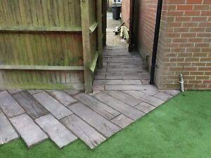 24 sq/m Timberstone Concrete Sleeper Random sizes Brown inc del