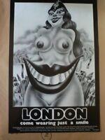 Original 1969 Canned London Alan Aldridge Poster Print Vintage Pychedelic 60s