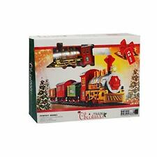 Christmas Locomotive Train Set with Light and Sound Battery Operated