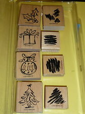 """Stampin' Up! """"Season's Sketches"""" 2002 Two-Step Stampin - Tree Present ornament"""