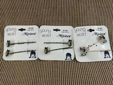 New Lot of 1970's ? Vintage Enamel Hair Pins Clips By Riviera Owls Dogs