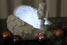 Deko Engel mit LED Beleuchtung betend Figur Skulptur Licht, weiß Engelchen