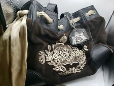 Juicy Couture Purse Velour Brown Cr