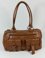 Joshua Taylor tan leather medium handbag 34cm x 20cm