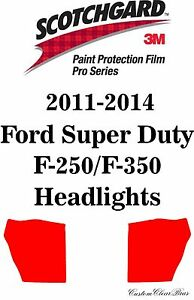 3M Scotchgard Paint Protection Film Pro Series 2012 2013 2014 Ford F-250 F-350