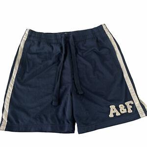 Abercrombie& Fitch Athletic Drawstring Shorts Medium blue mens