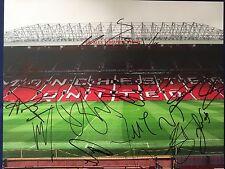 MANCHESTER UNITED Team Signed Autographed 11x14 Photo Schweinsteiger Depay +15