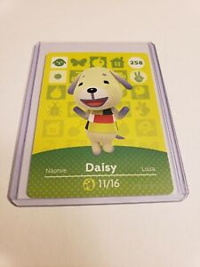 Daisy # 258 Animal Crossing Amiibo Card AUTHENTIC Series 3 NEW NEVER SCANNED!
