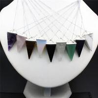 Natural Newly Quartz Crystal Healing Chakra Gemstone Pendant Reiki Necklace