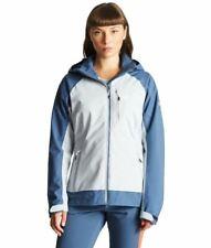 Dare2b Womens Veritas Lightweight Waterproof Breathable Jacket Blue/Grey 8