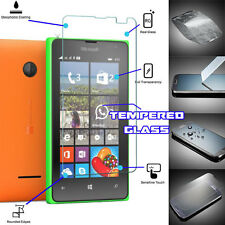 Genuine TEMPERED GLASS Invisible Screen Protector Shield for Microsoft Lumia 435