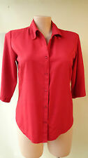 Katies red top 3/4 shirt size 14 career