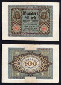 Germania / Germany - 100 mark  Reichsbanknote 1920 BB/VF  B-04